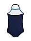 Neckholder-Badeanzug mit Delfin-Print für Baby Mädchen