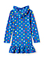 Toddler Girls Long Sleeve Patterned Hooded Beach Cover Up
