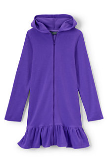 Girls' Long Sleeve Hooded Beach Cover Up