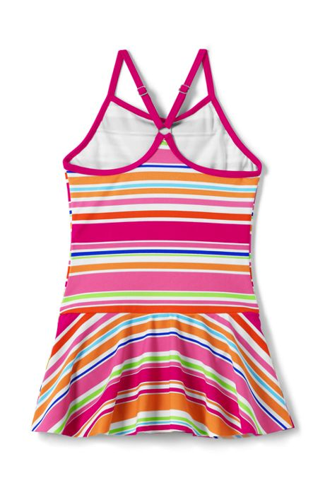 Girls Plus Smart Swim Skirted One Piece Swimsuit
