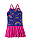 Toddler Girls' Smart Swim Skirted Cross-back Swimsuit