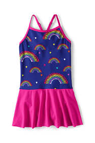 Girls Smart Swim Skirted One Piece Swimsuit