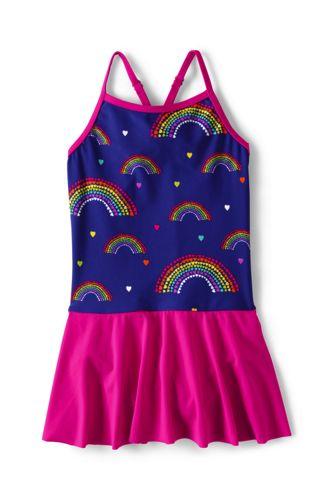 Toddler Girls' Smart Swim Skirted Cross-back Swimsuit