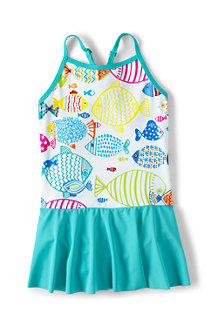 Girls' Smart Swim Skirted Cross-back Swimsuit