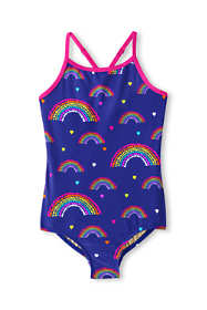 Girls Slim Crossback One Piece Swimsuit