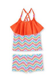 Girls Plus Boy Shorts Ruffle Tankini Swimsuit Set