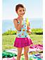 Gemustertes Tankini-Set mit Volants für kleine Mädchen