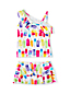 Little Girls' One Shoulder Skirted Tankini