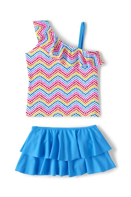 Girls Plus Skirted Tankini Swimsuit Set