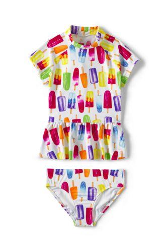 Little Girls' Beachcomber Rash Vest Set
