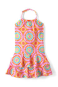 Girls Plus Lush Tropics Shirred Halter One Piece