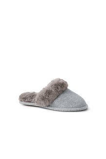 Women's Velour Mule Slippers