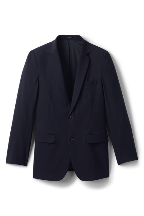 Men's Tailored Washable Wool Two Button Suit Coat