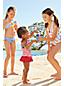 Gemustertes Neckholder-Bikiniset für kleine Mädchen