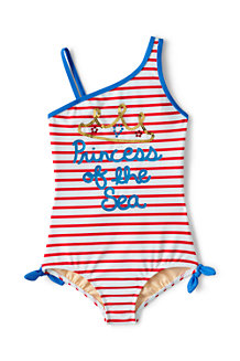 Girls' Seaside Stripe Graphic One Piece