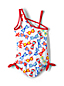 Girls' One Shoulder Swimsuit