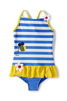 Badeanzug mit Streifen, Bienchen, für  Mädchen