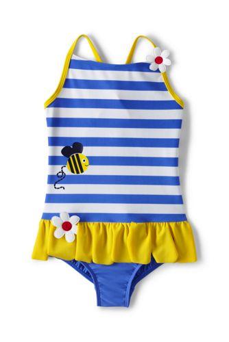 Badeanzug mit Streifen, Bienchen, für Baby Mädchen