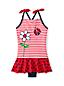 Badeanzug mit Röckchen, Marienkäfer und Blumen, für Baby Mädchen