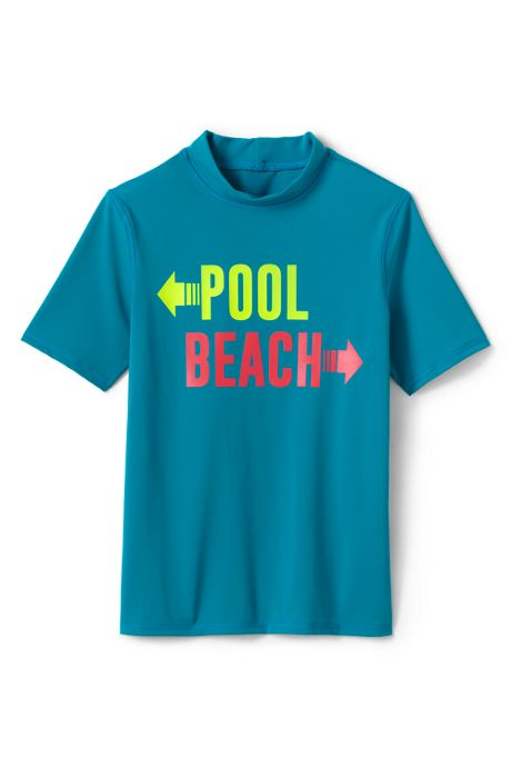 Boys Short Sleeve Rash Guard