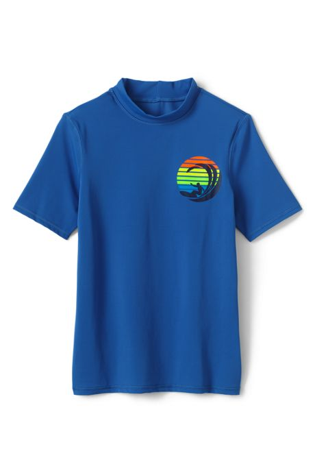 Little Boys Short Sleeve UPF 50 Sun Protection Rash Guard