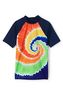 Boys' Short Sleeve Colourblock Graphic Rash Vest