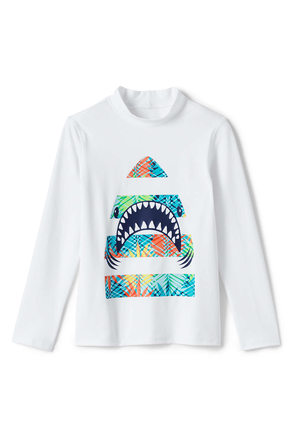 e183d93c95 Boys Long Sleeve Graphic Rash Guard from Lands' End