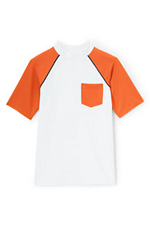 Boys' Short Sleeve Colourblock Rash Vest