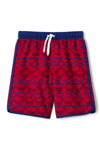 Little Boys' Printed Swim Shorts