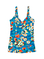 Women's Regular Costa D'Oro Ruched Floral V-neck Tankini Top