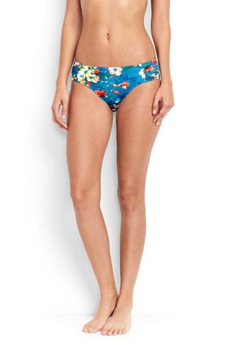 Le Bas de Bikini Costa D'Oro Fleuri à Ruchés, Femme Stature Standard