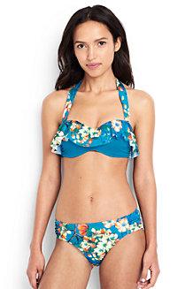 Women's Costa D'Oro Ruffle Bandeau Bikini Top