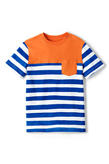 Le T-Shirt Poche Poitrine avec Rayures, Garçon