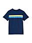 Le T-Shirt Poitrine Rayée, Petit Garçon