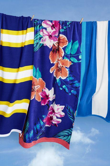 Adult Printed Velour Beach Towel