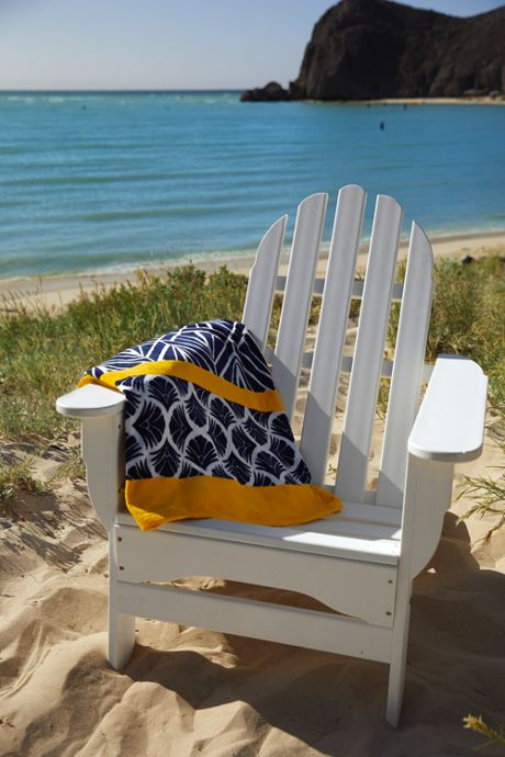 Printed Velour Beach Blanket