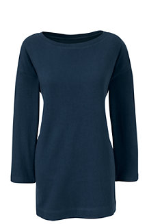 Women's Three Quarter Sleeve Boatneck Tunic