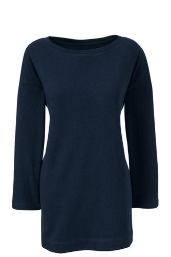 Langes Jersey-Shirt mit U-Boot-Ausschnitt