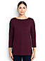 Women's Regular Three Quarter Sleeve Print Boatneck Tunic