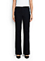 Women's Regular Mid Rise Black Denim Trouser Leg Jeans