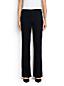 Women's Mid Rise Black Denim Trouser Leg Jeans