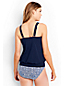 Women's D-Cup Beach Living Pleated Blouson Tankini Top