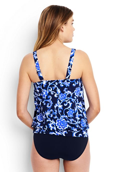 Women's Blouson Tankini Top