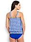 Women's Plus Beach Living Pleated Blouson Paisley Print Tankini Top