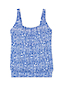 Women's DD-Cup Beach Living Pleated Blouson Paisley Print Tankini Top