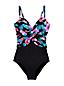 Slender Badeanzug mit Herzausschnitt Colorblock Floral