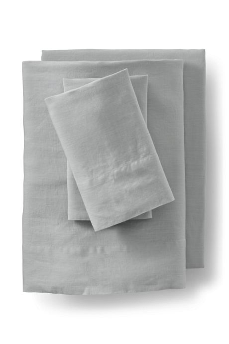 Garment Washed Linen Solid Sheets