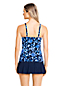Women's D-Cup Beach Living Squareneck Scroll Pattern Tankini Top