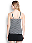 Women's Regular Beach Living Squareneck Geo Print Tankini Top