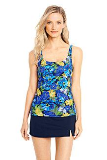 Women's Beach Living Squareneck Floral Print Tankini Top